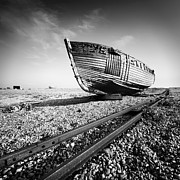 Ship Framed Prints - Dungeness Ship Wreck Framed Print by Nina Papiorek