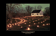 Memorial Illumination Framed Prints - Dunker Church 07 Framed Print by Judi Quelland