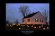 Memorial Illumination Framed Prints - Dunker Church 94 Framed Print by Judi Quelland