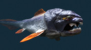 Paleontology Prints - Dunkleosteus Prehistoric Fish Print by Christian Darkin