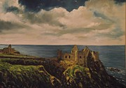 Irish Artists Painting Originals - Dunluce Castle by Robert Gary Chestnutt
