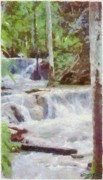Rapids Digital Art Framed Prints - Dunn River Falls Framed Print by Jeff Kolker