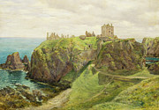 Seacoast Framed Prints - Dunnottar Castle Framed Print by Sir George Reid