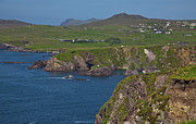 Dingle Peninsula Posters - Dunquin bay and coast Poster by Gabriela Insuratelu