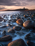 Northumberland Prints - Dunstanburgh Castle Sunrise Print by John Potter
