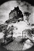 Black And White Photos Posters - Duntroon Castle Poster by Simon Marsden