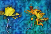 Blue Art Digital Art - Duo Daisies - 01c2t5dp01e by Variance Collections
