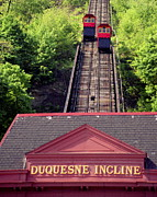 Duquesne Incline Posters - Duquesne Incline Poster by Tom Leach