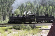 Railroads Originals - Durango - Silverton Train by Cynthia Cox Cottam