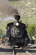 Railroads Photo Prints - Durango And Silverton Railroad Narrow Print by Rich Reid