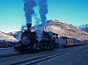 Boiler Photo Acrylic Prints - Durango Silverton Narrow gauge  Acrylic Print by Ernie Echols