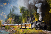 Colorado Travel Prints - Durango-Silverton Narrow Gauge Railroad Print by Inge Johnsson