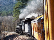 Narrow Gauge Engine Prints - Durango Silverton Painterly 2 Print by Ernie Echols