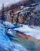 Colorado Mountain Prints Posters - Durango Stream Poster by Bonnie Goedecke