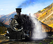 Narrow Gauge Steam Train Framed Prints - Durango To Silverton Narrow Gauge Train Framed Print by Terril Heilman