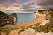 World Series Prints - Durdle Door Beach, Dorset Print by Chris Hepburn