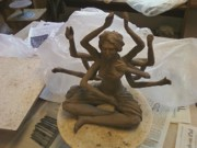 Worship Sculptures - Durga by  Rosanna Hardin