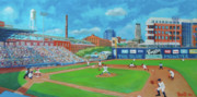 League Painting Prints - Durham Bulls Print by David Gellatly