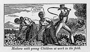 Slavery Prints - During Work Slave Mothers Had To Leave Print by Everett