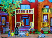 The Torah Prints - Durocher Street Montreal Print by Carole Spandau