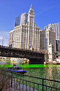 Water St Chicago Photos - DuSable Bridge Chicago by Dejan Jovanovic