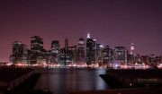 Skylines Metal Prints - Dusk at Brooklyn Port Metal Print by Shawn Everhart