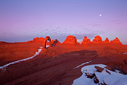 Astrological Art Posters - Dusk at Delicate Arch Poster by Keith Kapple