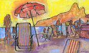 Rio Prints - Dusk at Ipanema 2 Print by Douglas Simonson