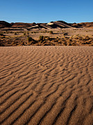 Sand Dunes Prints - Dusk at Sand Mountain  Print by Jeffrey Campbell