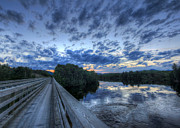 Baxter Prints - Dusk at the Abol Bridge Print by Lori Deiter