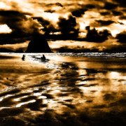 Cannon Beach Photos - Dusk at the Beach by David Patterson