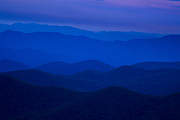 Cowee Mountain Overlook Prints - Dusk at the Blue Ridge Print by Andrew Soundarajan