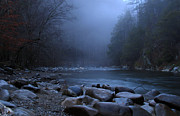 Douglas Stucky Metal Prints - Dusk in The Smokies Metal Print by Douglas Stucky