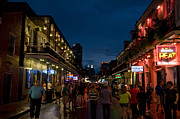 Dusk On Bourbon Street Print by Bourbon  Street