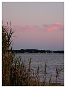 North Fork Prints - Dusk on Long Island Bay Print by Frank Wickham