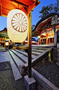 Paper Lantern Photos - Dusk Scene at Inari Shrine by Jeremy Woodhouse