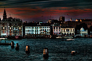 City Venice Italy Framed Prints - Dusk Venice Italy Framed Print by Tom Prendergast
