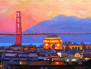 California Contemporary Gallery Prints - Dusky Rose Print by Aaron Memmott