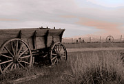 Wagon Wheels Photos - Dusky Wagon by Al Bourassa