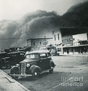 Sand Storm Prints - Dust Bowl Of The 1930s, Elkhart, Kansas Print by Science Source