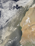 SAHARA Art - Dust Storm Off West Africa by Stocktrek Images