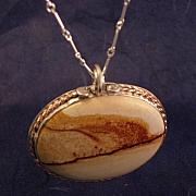 Team Jewelry - Dust Storm on the Prairie Pendant by Lynette Fast