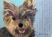 Dog Art - Dusty by Arline Wagner