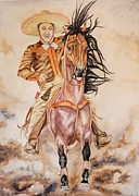 Mexican Horse Paintings - Dusty by Dee Elliott