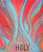 Jesus Pastels Prints - Dutamis Power Print by Cassandra Donnelly