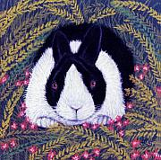 Rabbit Pastels Posters - Dutch Bunny Poster by Jan Amiss