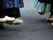 Shoe Digital Art - Dutch Dancers in Holland by Michelle Calkins