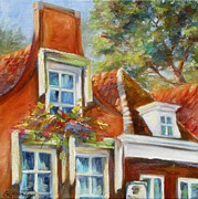 Amsterdam Painting Posters - Dutch Gables Poster by Chris Brandley