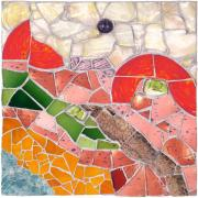 Mosaic Mixed Media Originals - Dutch Landscape by Jonathan Mandell