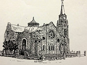 Awesome Drawings Originals - Dutch Reformed Church by Cecilia Putter